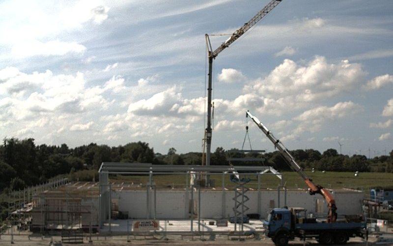 Weiterlesen: Mit der installierten Webcam kann man sich jeder Zeit ein Bild von der Baustelle machen.