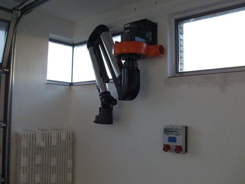 Schweißgasabsauganlage in der Werkstatt | Bild: Meyer