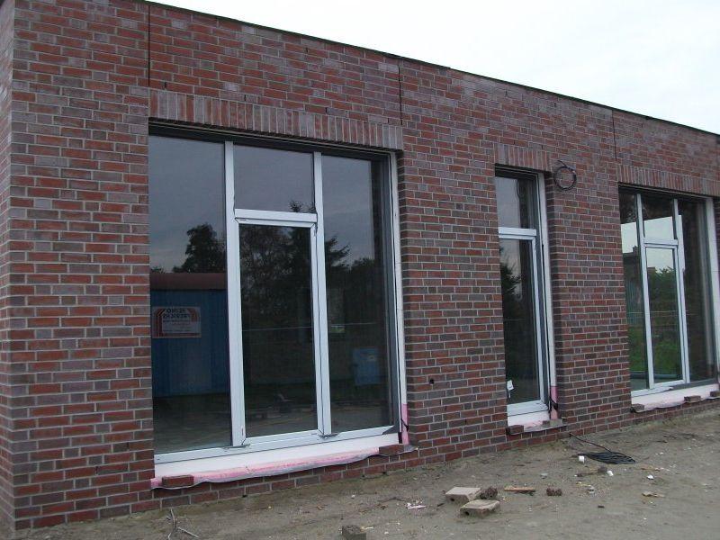Das Gerüst um den Neubau ist ebenfalls abgebaut. | Bild: Meyer